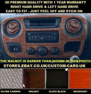 OPEL MOVANO MK3 (2010-2019) - Walnut - Silver Carbon - Gloss Black - Dash Kit