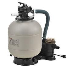 pro.tec Sandfilteranlage Filterpumpe Sandfilter Filterkessel Poolfilter 12 m³/h
