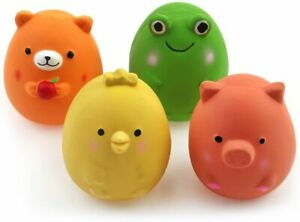 Squeak Latex Puppy Toy - Funny Animal Sets - Pet Interactive Play - Set Of 4