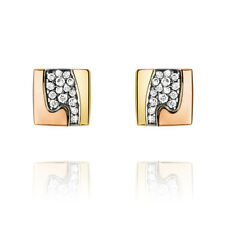Georg Jensen Earrings # 1511B - FUSION with Pavé Diamonds 0,11ct