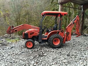 2008 Kubota B26 Tractor Loader Backhoe,4WD,Runs Great, Needs Repairs, NO RESERVE