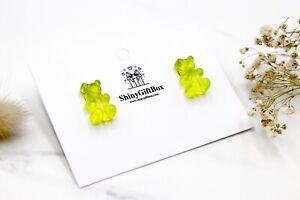 Gummy Bear / Novelty Candy Lollies Earrings Studs - Green