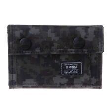 Men's Canvas Clutch Wallet ID Bifold Camo Credit Card Holder Purse Mesh Pocket