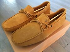 595$ Tod's Yellow Suede Laccetto Gommini Zucca Drivers Size US 9 Made In Italy