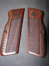 CZ 75 75B 85 85B Early-Style Fine English Walnut Checkered Pistol Grips w/Logo