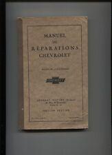 CHEVROLET 4 cylindres 1929    : manuel de réparation en français   271 pages