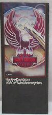 Vintage Harley Davidson 1980 V Twin Motorcycles Specifications Brochure