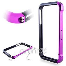 Bumper Aluminio Vapor 4 para iPhone 4  Fucsia y Negro  a555