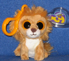 TY KING the LION KEY CLIP - BEANIE BOOS - MINT with MINT TAGS