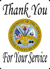 """Army Thank You For Your Service 8x10"""" Quilting Block Applique Panel"""