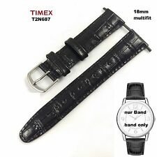 Timex Replacement Band t2n687 Elevated Classic Dress - 18mm - Universal -