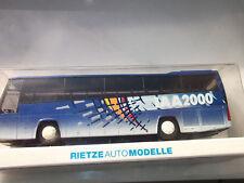 Rietze Bus  Volvo B 12 600 Blau - Weiß Werbung IAA 2000  mit OVP   1:87