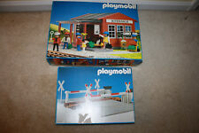 Vintage Playmobil 4301 Riverdale Train Station Set & 4364 Crossing Lot R304