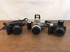 Canon Powershot S3 IS - Kodak EasyShare - Minolta QT SI Camera Lot of 3