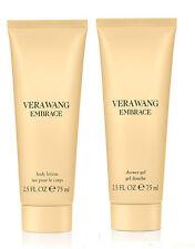 Set *2* Vera Wang Embrace Marigold & Gardenia Body Lotion + Shower Gel 2.5 oz ea