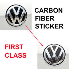 Carbon Fiber Style ABS Rear Boots Emblems Sticker Badge Decal Fits For VW