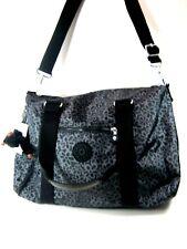 Kipling Tote Itska Bag Black Flowers Travel Gym NWT $139