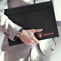 Fireproof Document Pouch Fire Resistant Waterproof Bag Money Files Safety