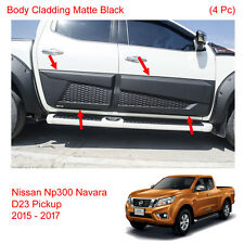 Matte Black Side Molding Body Cladding For Nissan Navara Frontier NP300 16 17