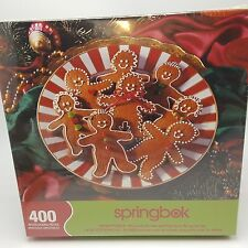 Family Christmas Puzzle Springbok Gingerbread Goodies Man 400 pieces sealed Usa