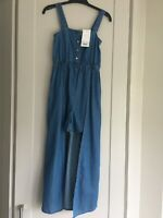 Lipsy Denim 2 In 1 Playsuit. Size UK 6. XXSmall. NEW With Tags