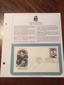 BRONKO NAGURSKI Chicago Bears 2003 First Day Issue Stamp Postal Comm Society