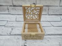 Wedding ring box, Wooden Rustic Vintage ring Box, Hessian Burlap Pillow