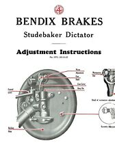 1928 Studebaker Dictator Brake Adjustment and Trouble Finder