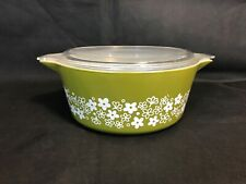Crazy Daisy Cinderella Casserole #475 2.5 LQt with Lid #475-C Mint Condition Vintage Pyrex Spring Blossom