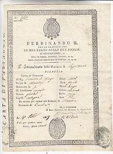 U594-PASSAPORTO REGNO DELLE 2 SICILIE