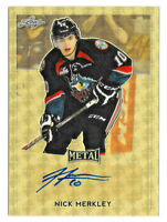 2016-17 Nick Merkley Leaf Metal Super Prismatic Rookie Auto 1/1 Arizona Coyotes
