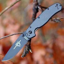Couteau Ontario RAT II Carbone Fiber Military Lame Acier AUS-8 Manche ON8838