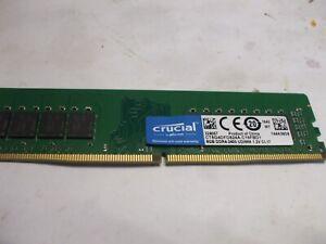 Crucial 8GB DDR4 2400MHz PC4-19200 Desktop Memory RAM 2400 CT8G4DFD824A DR x8