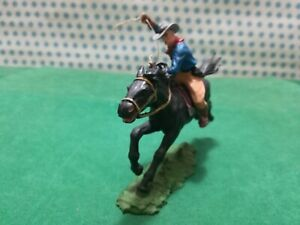 Cowboy IN Horse With Lasso Old Wilde West - Elastolin 70 MM