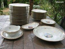 Lot Service de Table en Porcelaine de Limoge Bernardaud estampillé * B&C