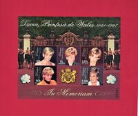 M#282-286 IN MEMORIAM - Princess Diana Of Wales, 6 Stamps Moldova Souvenir Sheet
