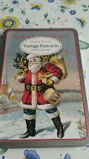 Cavallini & Co Vintage Postcards Santa Claus Nostalgie Glitzer Karten