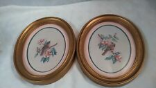 New ListingHomco 1983 Oval Gold Frame Bird Pictures