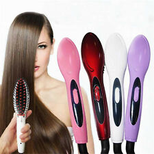 One Electric Hair Straightener Comb Iron Brush Auto Styling Hair Massager Tools