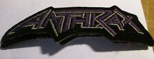 ANTHRAX COLLECTABLE RARE VINTAGE PATCH EMBROIDED 90'S METAL LIVE