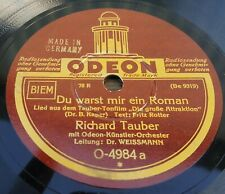 78rpm 1932 BERLIN TONFILM Songs with RICHARD TAUBER   Odeon 78