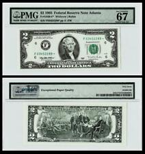 ***STAR NOTE***  Fr.1936-F* 1995* DALLAS $2 Federal Reserve Note ~~ PMG 67EPQ
