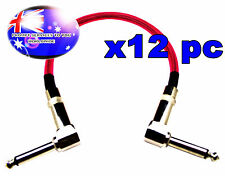 """From OZ Quality 12PC 12"""" Guitar Patch Lead Wire Cable Right Angle Ends Pink +F.P"""