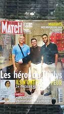 PARIS MATCH N° 3458 HEROS DU THALYS /   MIGRANTS  /  WILLIAM LEYMERGIE