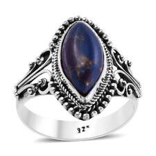 Женские серебро 925 пробы шатер фиолетовый бирюза кольцо цвет 4.7