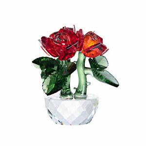 LONGWIN Three Flower Crafts Crystal Glass Figurines Ornament Wedding Decor Gift