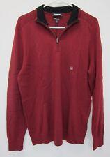 Express Men's Merino Wool Blend Mock Neck Sweater Large Red  NWT
