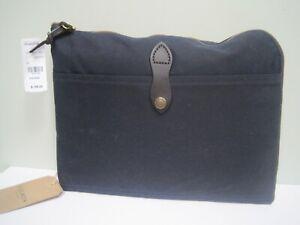 Filson Laptop Padded Case Briefcase Bag Dark Navy Canvas NWT