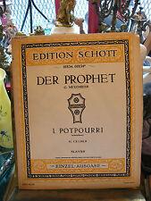 Partition Der Prophet G Meyerbeer: Cramer Music Sheet