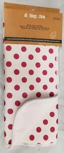"Kitchen Microfiber Drying Mat (15"" x 19.5"") RED POLKA DOTS ON WHITE, MDC"